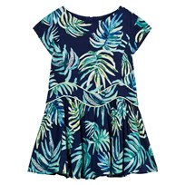 Catimini Navy Dress with Multi Jungle Floral Print 48