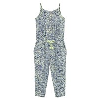 Catimini Navy and Green Multi Print Jumpsuit 01