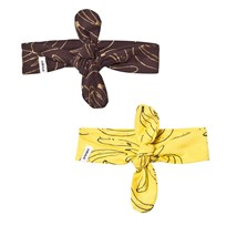 Indikidual 2 Pack of Yellow and Black Headbands Multi