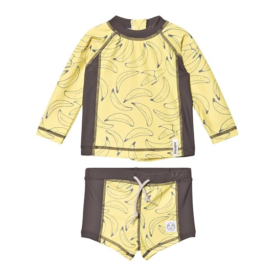 Indikidual Yellow Seaweed Swim Set YELLOW/GREY
