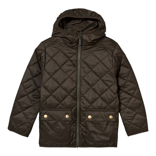 Barbour Quilted Hooded Jacket Sage Green Lawers SG61