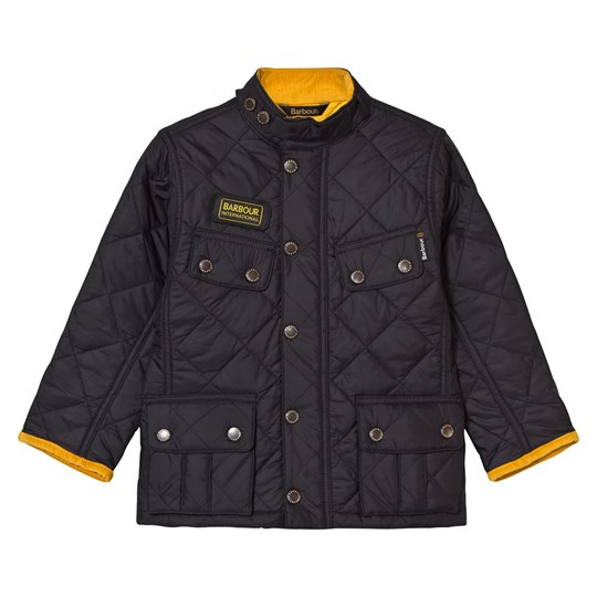 Barbour Ariel Quilt Jacket Black and Yellow BK91