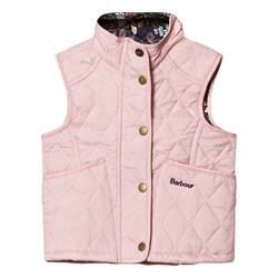 Barbour Pale Pink Heterton Gilet with Floral Lining