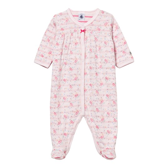 Petit Bateau Floral Print Tubic Footed Baby Body 57