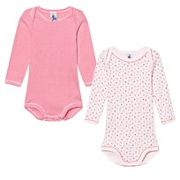 Petit Bateau 2 Pack Baby Body Pink Stripe and Cherries Print 00