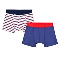 Petit Bateau 2 Pack Trunks Stripe and Solid Print 00