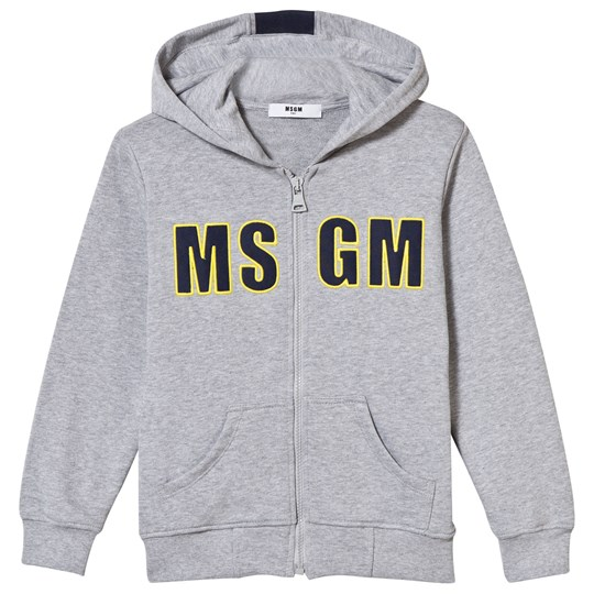 MSGM Grey Branded Hoody with Stripe on Reverse 101