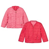 Mayoral Red Reversible Spot Puffer Jacket 41