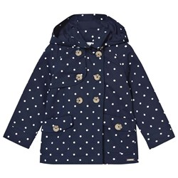 Mayoral Navy Spot Hooded Trench Coat