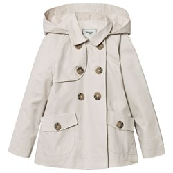 Mayoral Hooded Trench Coat Beige