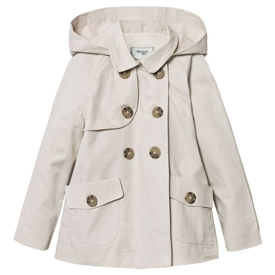 Mayoral Beige Hooded Trench Coat 45