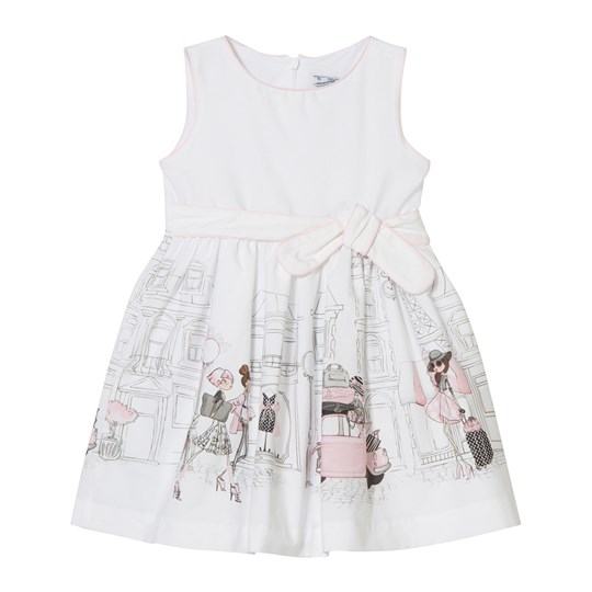 Mayoral White Street Shopping Party Dress 61