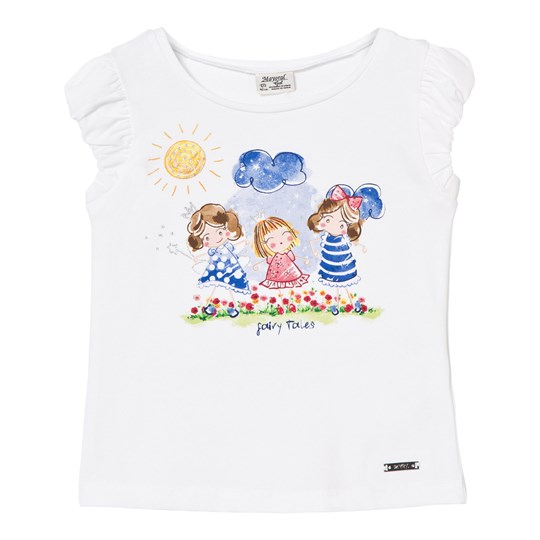 Mayoral Cartoon Girl Frill Sleeve Tee 39