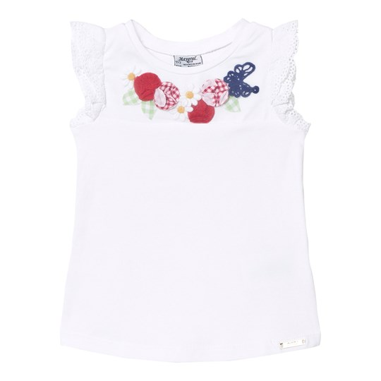 Mayoral White and Flower Embroidered Top 93