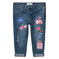 Mayoral Blue Badge and Sequin Detail Jeans 62
