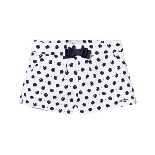 Mayoral White and Navy Spot Shorts 15
