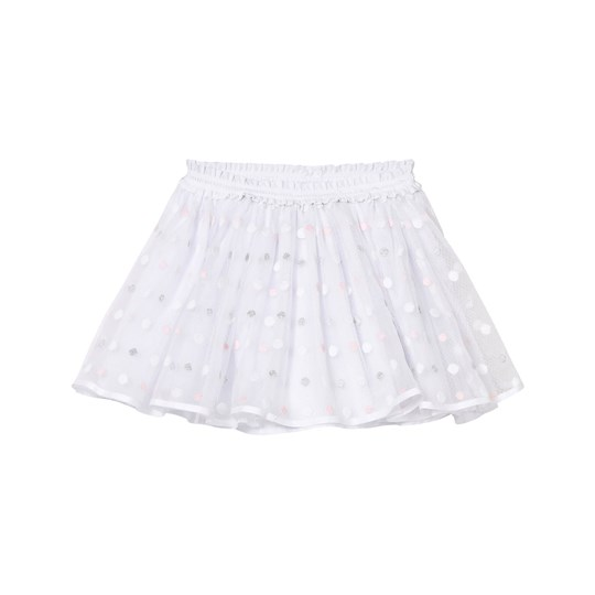 Mayoral White and Pink and Grey Lurex Skirt 61