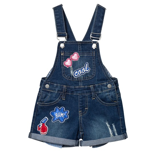 Mayoral Blue Badge Applique Dungarees 62