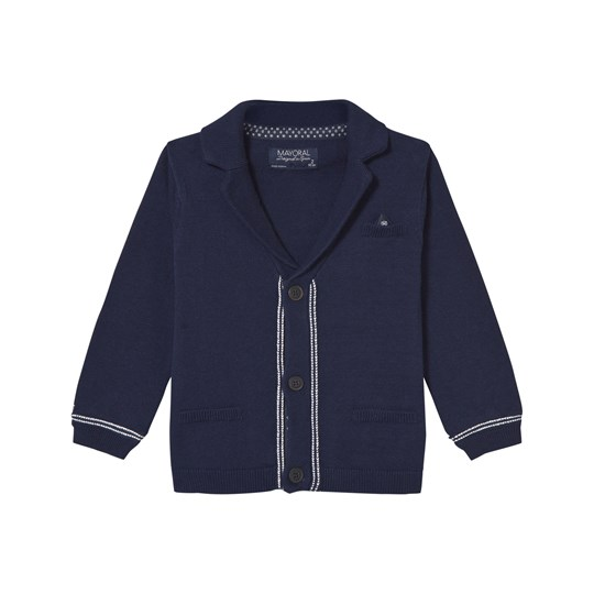 Mayoral Navy Piped Edge Knit Cardigan 66