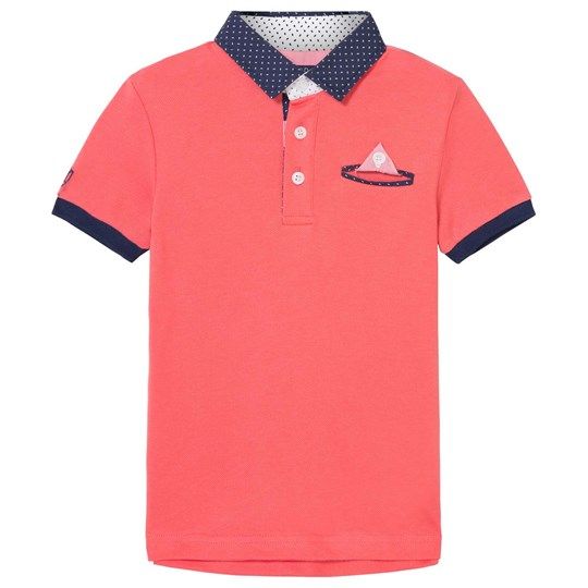 Mayoral Coral Smart Polo with Contrast Collar 89