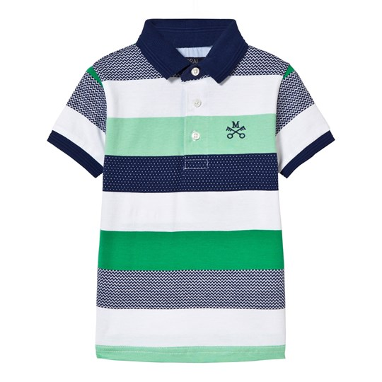 Mayoral Green and Navy Stripe Polo 19