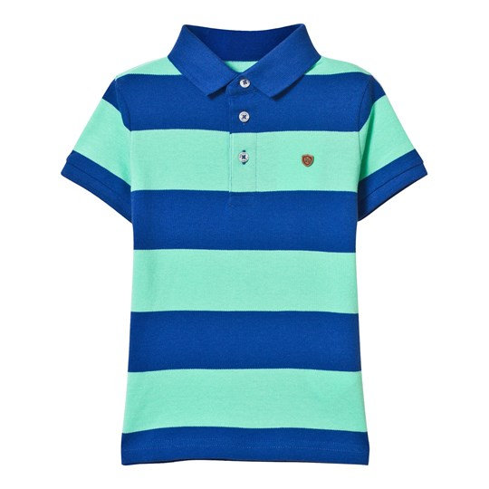Mayoral Mint and Navy Stripe Polo 51
