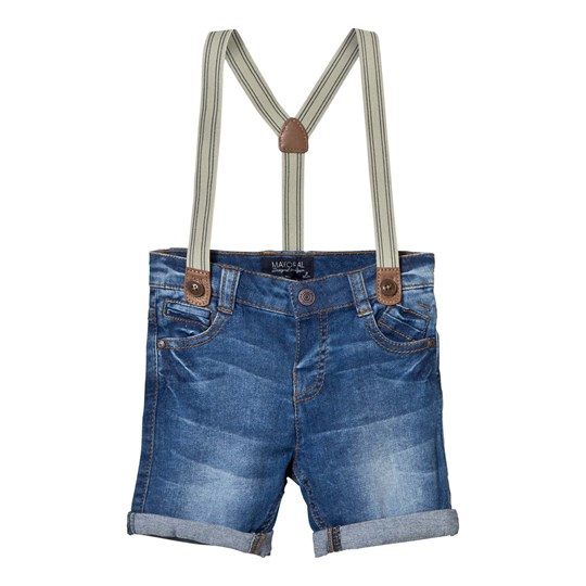 Mayoral Blue Shorts with Braces 5