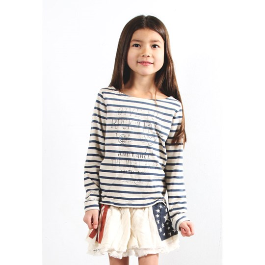 Scotch R'belle Striped Sweater With Skirt Multi