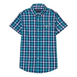 Mayoral Blue and Green Check Shirt