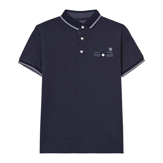 Mayoral Navy Spot Jacquard Polo 80