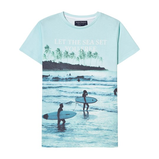 Mayoral Green Washed Surf Print Tee 64