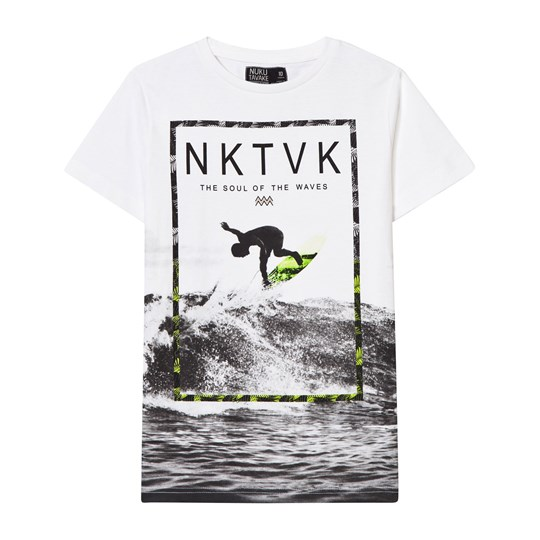 Mayoral White and Black Surf Print Tee 19