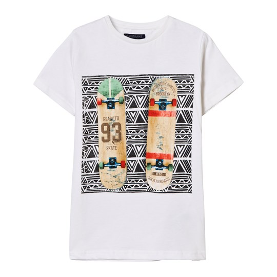 Mayoral White Skateboard Print Tee 49
