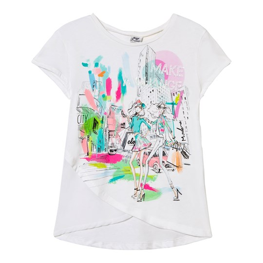 Mayoral White and Multi Fashion Tee 76