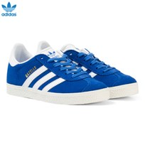 adidas Originals Blue Kids Gazelle Trainers Blue