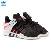 adidas Originals Black Kids EQT Support Trainers CORE BLACK