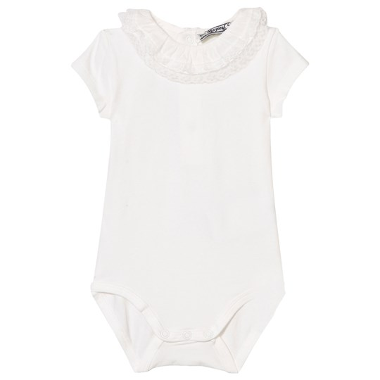 Mayoral Off-White Lace Frill Baby Body 10