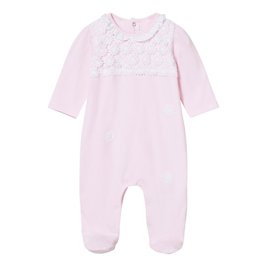 Mayoral Pink Lace Applique Footed Baby Body 23