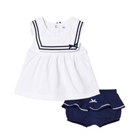 Mayoral Navy and White Sailor Top and Knickers 31