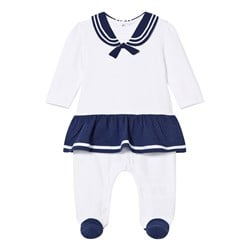 Mayoral White and Navy Sailor Baby Body