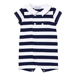 Mayoral Navy Stripe Romper
