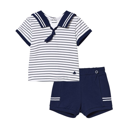 Mayoral Navy and White Sailor Top and Shorts 46