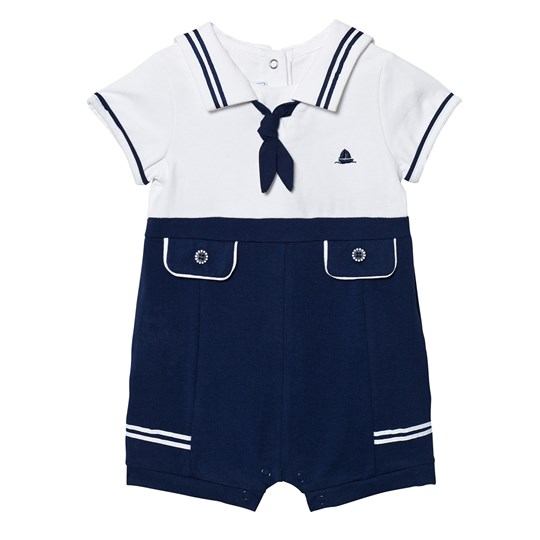 Mayoral Navy and White Sailor Romper 46