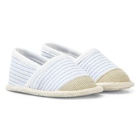 Mayoral Pale Blue and White Espadrille Crib Shoes 45