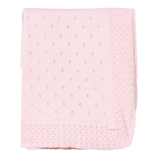 Mayoral Pink Bear Intarsia and Bow Knit Blanket 65