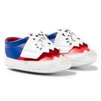 Billybandit Red and Blue Leopard Print Crib Trainers Z41