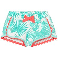 Billieblush Turquoise Palm Print Towelling Shorts Z40