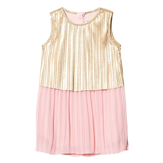 Billieblush Pink and Gold Lame Pleated Dress 447
