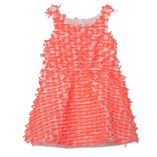 Billieblush Neon Pink Organza All Over Bow Dress 499
