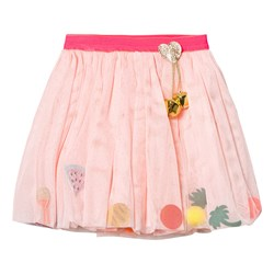 Billieblush Pale Pink Pom Pom and Glitter Charm Skirt with Detachable Bell
